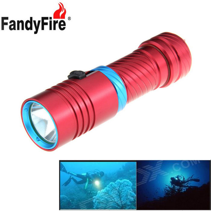 FandyFire XM-L2 U2 1200lm LED Diving Flashlight (1*26650)Diving Flashlights<br>Form  ColorRedQuantity1 DX.PCM.Model.AttributeModel.UnitMaterialAluminum alloyEmitter BrandOthers,N/ALED TypeXM-L2Emitter BINU2Color BINCold WhiteNumber of Emitters1Theoretical Lumens1200 DX.PCM.Model.AttributeModel.UnitActual Lumens1200 DX.PCM.Model.AttributeModel.UnitPower Supply1 x 26650Working Voltage   3.7~4.2 DX.PCM.Model.AttributeModel.UnitCurrent4000 DX.PCM.Model.AttributeModel.UnitRuntime3-5 DX.PCM.Model.AttributeModel.UnitNumber of Modes3Mode ArrangementHi,Mid,LowMode MemoryNoSwitch TypeOthers,PushSwitch LocationHeadLens MaterialGlassReflectorAluminum SmoothWorking Depth Underwater100 DX.PCM.Model.AttributeModel.UnitStrap/ClipNoPacking List1 x Flashlight1 x 26650 Battery (3500mAh actual capacity)1 x US plug 26,650 dual slot Charger<br>