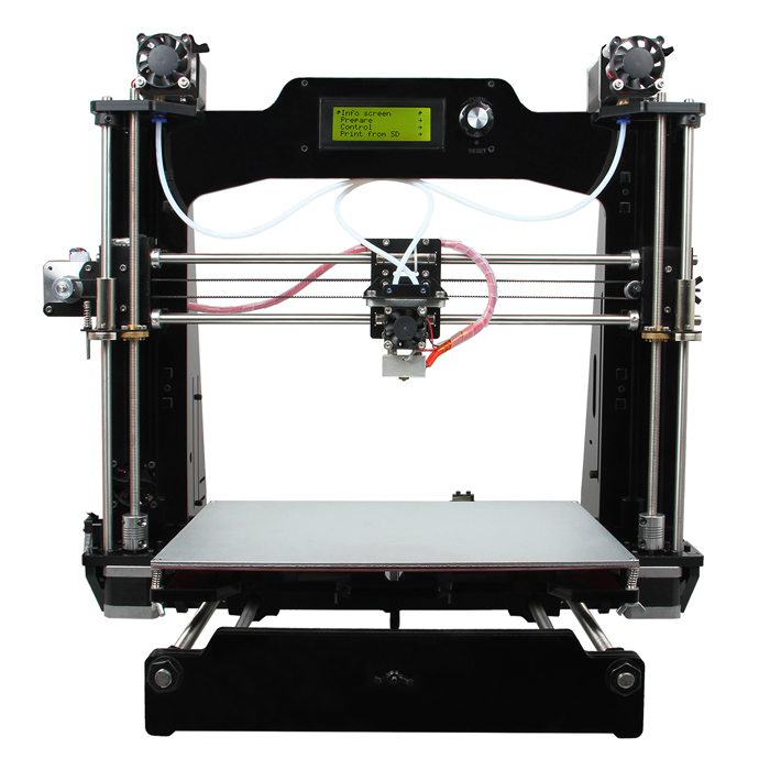 geeetech Prusa I3 M201 3D-printer kitit 1.75mm filament / 0.4mm dyse