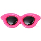 Pet Dog Cat Puppy Grooming Cute Sunglasses Style PP Hair Clip - Deep Pink