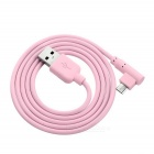 MAIKOU M4 USB to 90' Angled Micro USB Data Charging Cable - Pink (1m)