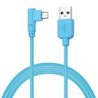 MAIKOU M4 High Speed USB Male to 90-Degree Angled Micro USB 5Pin Male Data Charging Cable - Blue