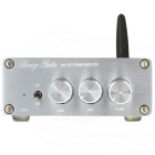 BT V4.0 HiFi Digital Subwoofer 2.1 Audio Amplifier - Silver Grey