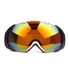 Fashionable TPU Frame PC Lens UV400 Protection Sport Skiing Goggles - Red + White