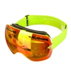 Fashionable TPU Frame PC Lens Anti-Fog UV400 Protection Sport Skiing Goggles - Green + Red