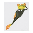DQW-34 3D Frog Pattern PVC Car Decorative Decal Sticker - Green