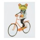 DQW-41 3D Frog Pattern PVC Car Decorative Decal Sticker - Green
