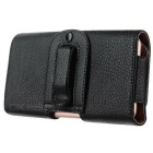 Leather Waist Bag Pouch Phone Case for IPHONE 6 PLUS / 6S PLUS - Black