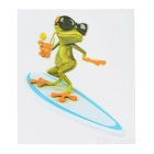 DQW-20 3D Frog Pattern PVC Car Decorative Decal Sticker - Green