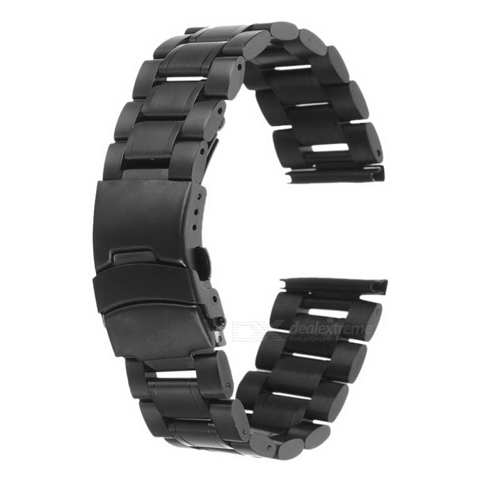 Stainless Steel Watchband for MOTO 360 Version2 42mm 20mm - Black