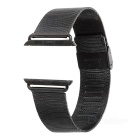 Replacement Stainless Steel Watch Band w/ Attachments + Screwdriver for APPLE Watch 42mm - Black