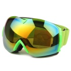 TPU Frame PC Lens UV400 Protection Sport Goggles - Green + Red