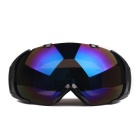 Fashionable TPU Frame PC Lens Anti-Fog UV400 Protection Sport Skiing Goggles - Black + Blue