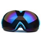 Fashionable TPU Frame PC Lens UV400 Protection Anti-Fog Sport Skiing Goggles - Blue