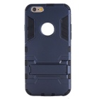 Protective PC + TPU Back Case Cover w/ Stand for IPHONE 6/6S - Dark Blue