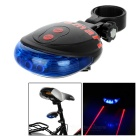 CTSmart Waterproof 5-LED 7-Mode Blue Light Bike Laser Taillight - Blue