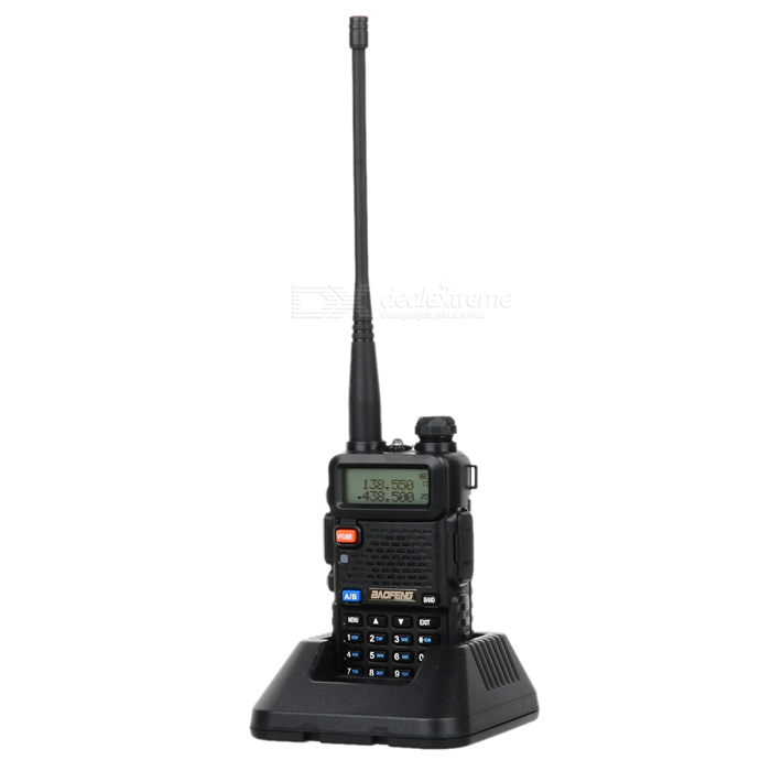 "BAOFENG BF-UV5R 1.5"" LCD 5W 128-CH UV Dual-Band Walkie Talkie - Black"
