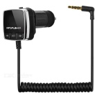 "0.8"" LCD Bluetooth v4.0 Car FM Transmitter MP3 Player USB 2.1A Charger w/ 3.5mm AUX - Black (12~24V)"