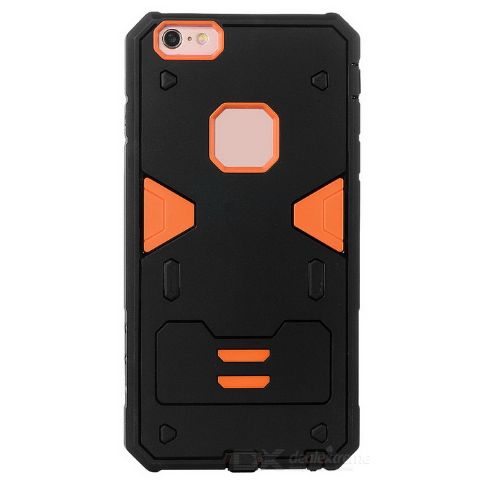 Power Rangers Style TPU Back Case for IPHONE 6S PLUS - Black + OrangeTPU Cases<br>Form ColorBlack + OrangeQuantity1 DX.PCM.Model.AttributeModel.UnitMaterialOthers,TPU + PCCompatible ModelsIPHONE 6S PLUSDesignSpecial ShapedStyleBack CasesPacking List1 x Back case<br>