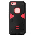 PowerRangers Style Protective TPU + PC Back Case for IPHONE 6S - Black + Red