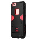 PowerRangers Style TPU + PC Back Case for IPHONE 6S - Black + Red