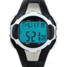 Metal Contact Dynamic Heart Rate R1003 Multifunction Sports Watch - Black + Silver