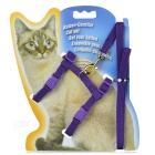 Adjustable Pet Cat Nylon Harness Lead Leash / Traction Rope - Purple