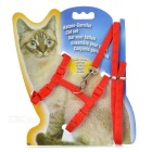 Adjustable Pet Cat Nylon Harness Lead Leash / Traction Rope - Red
