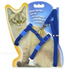 Adjustable Pet Cat Nylon Harness Lead Leash / Traction Rope - Blue