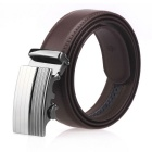 Men's Automatic Buckle Split Leather Belt - Brown(110cm)