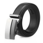 Men's Automatic Buckle Split Leather Belt - Black(115cm)