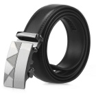 Men's Automatic Buckle Split Leather Belt - Black(125cm)