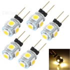 G4 0.8W LED Car Light Lamp Warm White 3500K 50lm 5-SMD 5050 (12V / 5PCS)