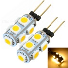 G4 1.3W LED Car Light Lamp Warm White 3500K 65lm 9-SMD 5050 (12V / 2PCS)