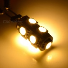 G4 1.3W LED Car Light Lamp Warm White 3500K 65lm 9-SMD 5050 (2PCS)