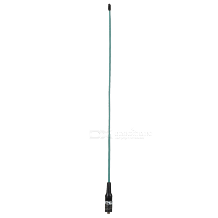 Beihaidao NA-771 Walkie Talkie High Gain Antenna for Baofeng / KenwoodWalkie Talkies Supplies<br>Form ColorGreen + BlackModelNA-771Quantity1 DX.PCM.Model.AttributeModel.UnitMaterialPlastic + metalCompatible BrandBaofeng, Kenwood, Wounxun, Quansheng, Puxing, BHD, HYT, TYTCompatible ModelKenwood TK-360, TK-370, TK-370G, TK-372, TK-372G, TK-3100, TK-3140, TK-3160, TK-3170, TK-3180, TK-3200, TK-3202, TK3207; LINTON LT-3288, LT-6288, LT-3188, LT-2188, LT-3260, LT-3268, LT6188; PUXING PX-777, PX-777 PLUS, PX-666, PX-888; WEIERWEI VEV-3288S, VEV-6288, VEV-3288; QUANSHENG TG-K4AT, TG-2AT, TG-45AT, TG-42AT, TG-22AT, TG-25AT, TG-UV; WOUXUN KG-689, KG-689 PLUS, KG-669, KG-669 PLUS, KG-659, KG-699E, KG-UVD1 HYT TC-268, TC-268S, TC-368, TC-368S, TC-370S, TC-500, TC-500S; TYT TH-UVF1 T2 T3 F6 300 500 600 800 900 9900; BAOFENG BF-666S, BF-777S, BF-888S, BF-320, BF-480, BF-490, BF-V6, BF-V8, BF-388A, BF-UV5R, BF-UV5RA, BF-UV5RB, BF-UV5RC, BF-UV5RD, BF-UV5RE, BF-UV5REPlus, BF-UV82, BF-UVB5 B6 GT-3Other FeaturesLonger working distance, more sensitive and clearer soundPacking List1 x Antenna<br>