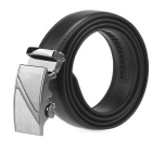 Men's Automatic Buckle Split Leather Belt - Black(120cm)