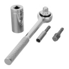 4-in-1 Universal Portable Drill Ratchet Wrench Extension Rod