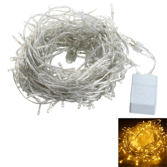 18W 900lm Warm White 300-LED Christmas String Light - White (30m)