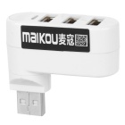 MAIKOU USB 2.0 Hub w/ 3 Ports / Indicator Light - White