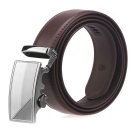 Fanshimite A18 Herren Automatische Buckle Cow Split Leather Belt - Braun (130 cm)