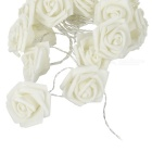 Christmas Roses Style 2-Mode 20-LED White Light String Light - White