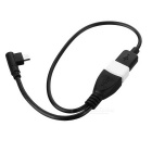 MAIKOU USB to Micro USB & USB OTG Cable w/ Power Supply - Black+White