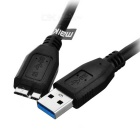 MAIKOU USB 3.0 Male to Micro B Male Data Sync Cable - Black (103cm)