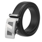 Fanshimite A22 Men's Automatic Buckle Cow Split Leather Belt - Black (160cm)