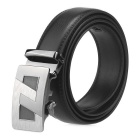 Fanshimite A22 Men's Automatic Buckle Cow Split Leather Belt - Black (125cm)