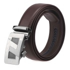 Fanshimite A22 Men's Automatic Buckle Cow Split Leather Belt - Brown (125cm)
