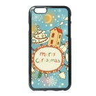 Christmas Day Pattern Protective TPU Back Case for IPHONE 6 / 6S - Light Blue + Multicolor