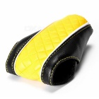 Auto Car Luxury PU Leather Gear Shift Knob Shifter Cover Sleeve Pad Case - Black + Yellow