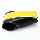 Car PU Gear Shift Knob Shifter Cover Sleeve Pad Case - Black + Yellow