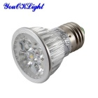 Youoklight E27 4W regulable 4-LED proyector luz blanca fría (6PCS)